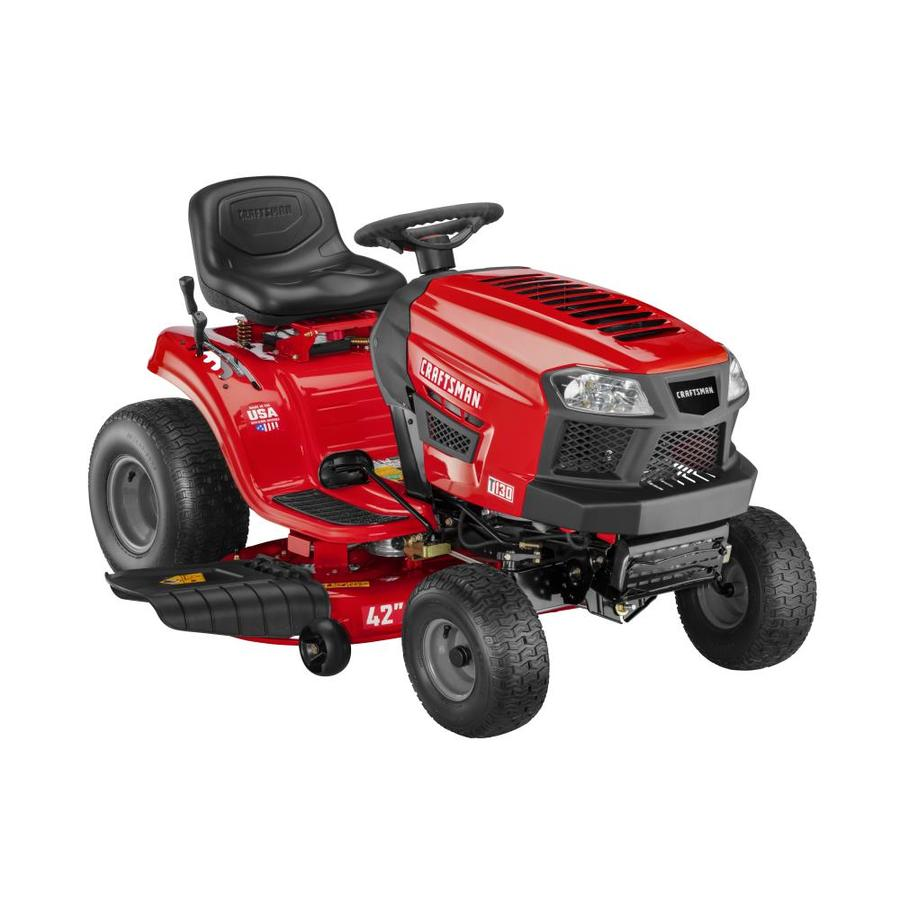 CRAFTSMAN T130 18 5-HP Automatic 42-in Riding Lawn Mower with