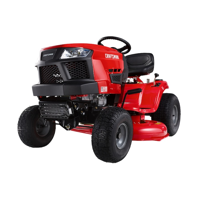 Craftsman T110 17 5 Hp Manual Gear 42 In Riding Lawn Mower With Mulching Capability Kit Sold Separately In The Gas Riding Lawn Mowers Department At Lowes Com