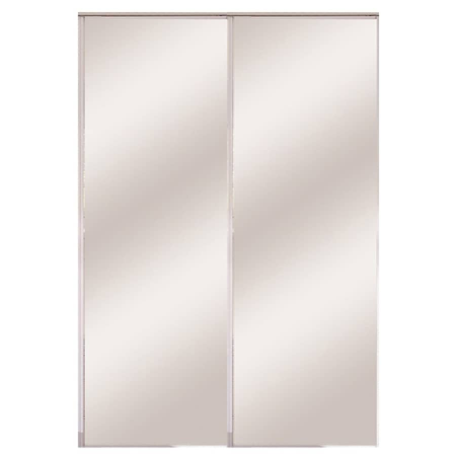 ReliaBilt Flush Mirror Bi-Fold Closet Interior Door (Common: 36-in x 80-in; Actual: 36-in x 78.56-in)
