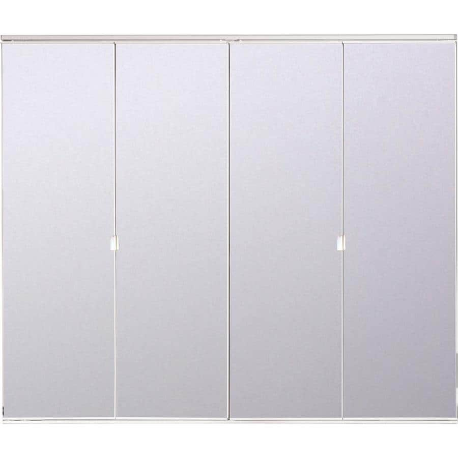 Shop Reliabilt White Mirror Bifold Door With Hardware Common 24 In