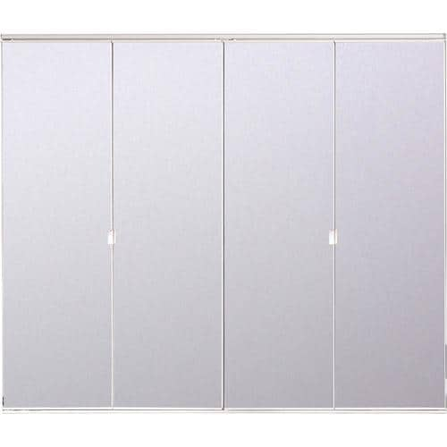 Reliabilt White Mirror Bifold Door Hardware Included Common 30 In X 80 Actual 78 56 At Lowes