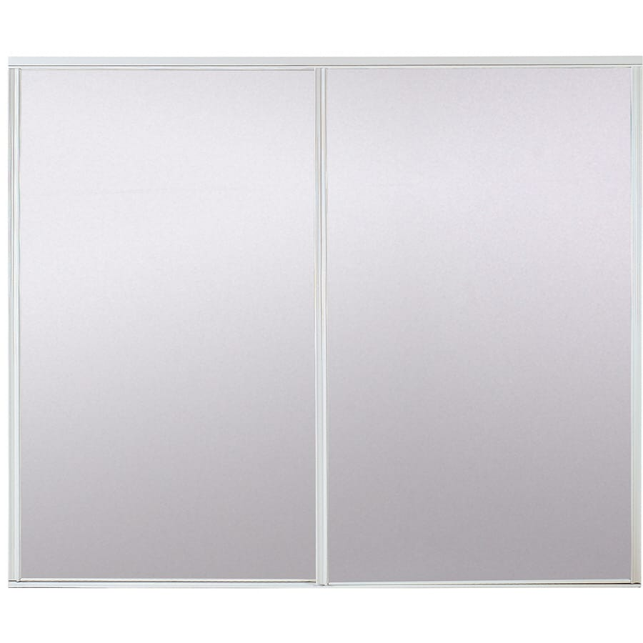 ReliaBilt Mirror Steel Sliding Closet Interior Door with Hardware (Common: 48-in x 80-in; Actual: 48-in x 78-in)