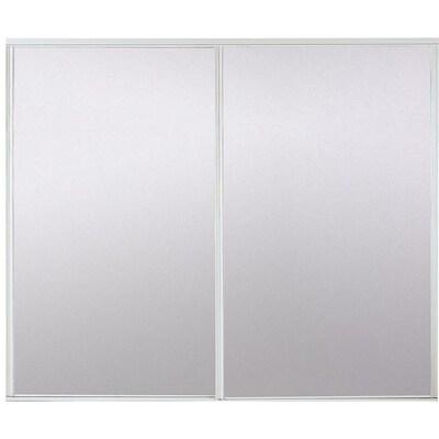 Glassmirror Flush Steel Sliding Closet Door Hardware Included Common 60 In X 80 In Actual 60 In X 78 In