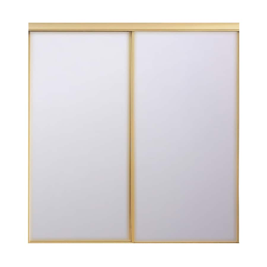 Attractive ReliaBilt Mirror Steel Sliding Closet Interior Door With Hardware (Common:  48 In X