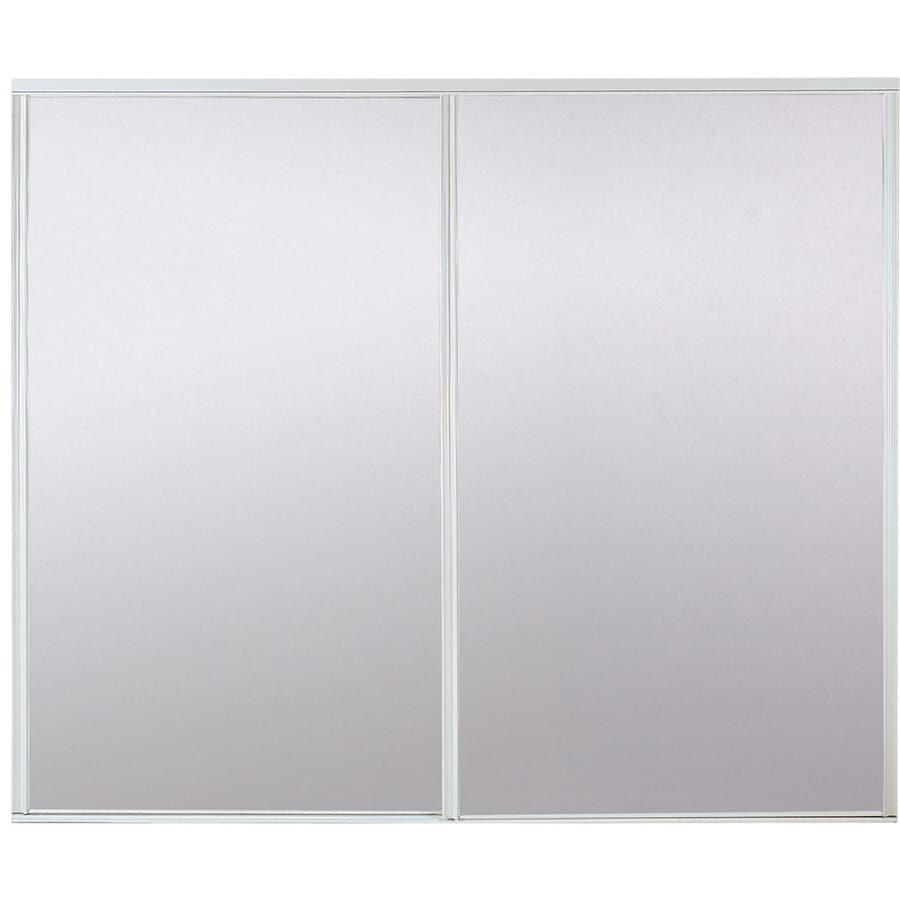 Shop Stanley White Bi Pass Sliding Mirror Door At Lowes