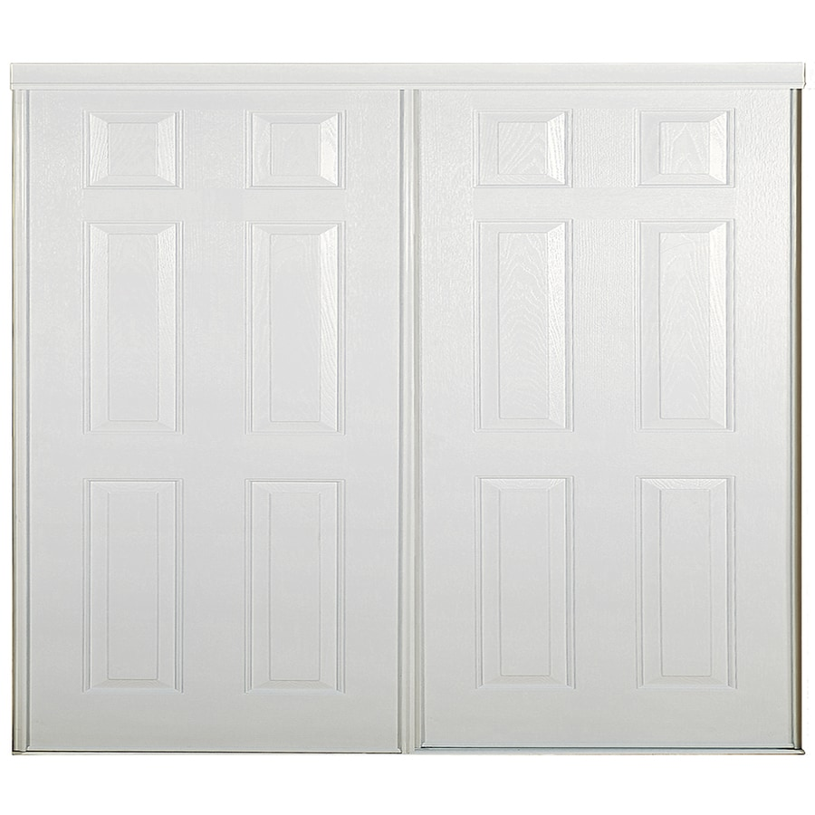 shop reliabilt white 6 panel sliding closet interior door common 48 in x 80 in actual 48 in. Black Bedroom Furniture Sets. Home Design Ideas
