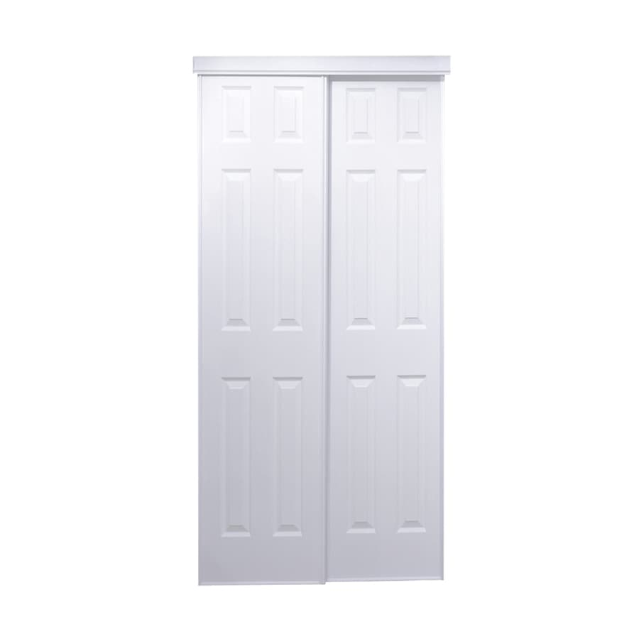 Attrayant ReliaBilt White Steel Sliding Closet Interior Door With Hardware (Common: 60 In  X
