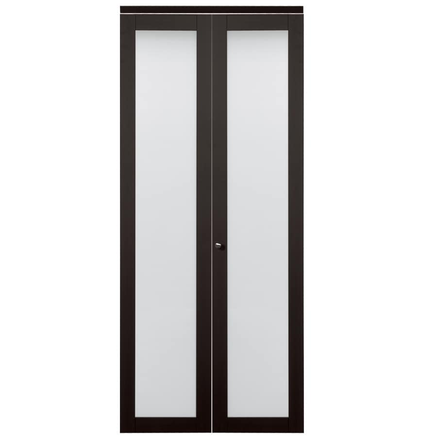 closet doors. ReliaBilt Frosted Glass MDF Bi-Fold Closet Interior Door With Hardware (Common: 24 Doors