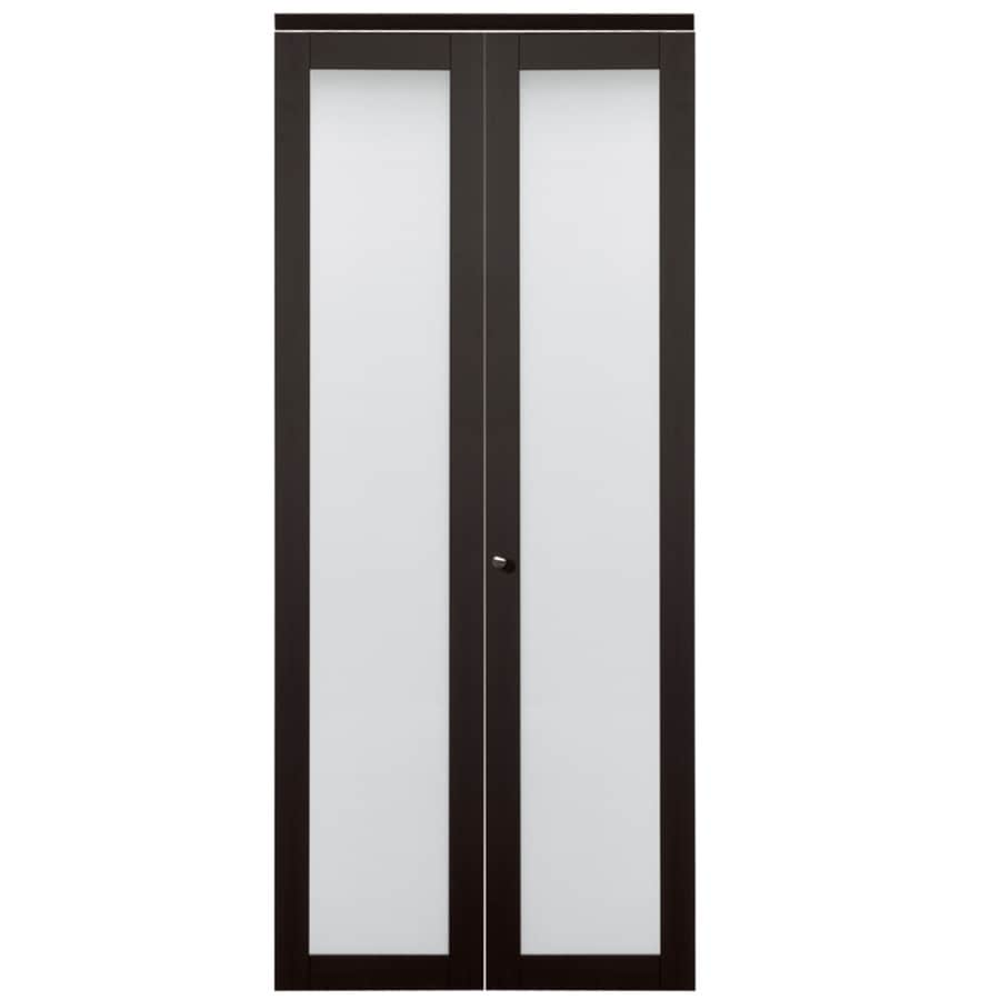 ReliaBilt 1-Lite Frosted Glass Bi-Fold Closet Interior Door (Common: 30-in x 80-in; Actual: 30-in x 78.68-in)