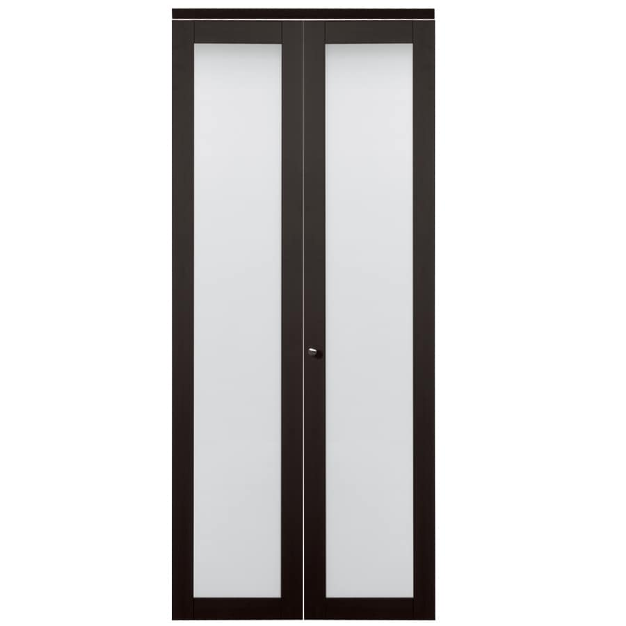 Glass interior doors lowes - Reliabilt 1 Lite Frosted Glass Bi Fold Closet Interior Door Common 36