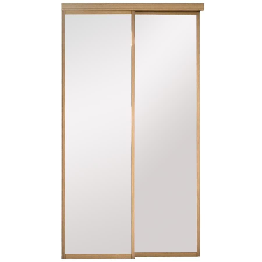 Shop Kingstar 48 X 80 Mirrored Interior Sliding Door At