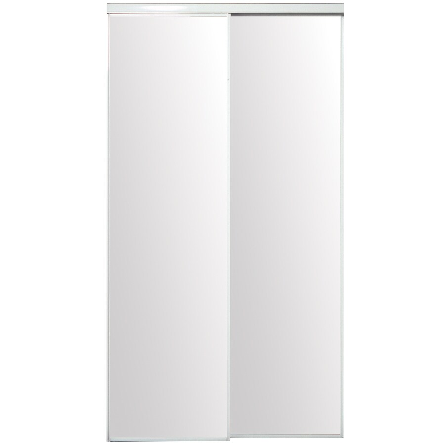 ReliaBilt Flush Mirror Sliding Closet Interior Door (Common: 72-in x 80-in; Actual: 72-in x 78-in)