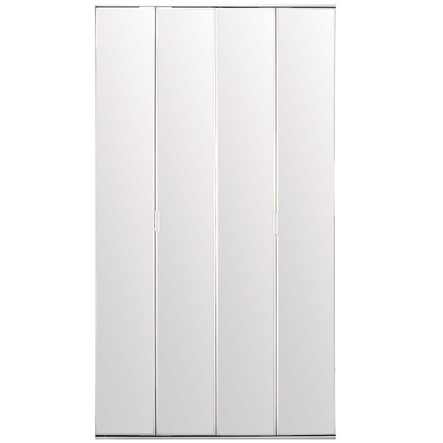 ReliaBilt Flush Mirror Bi-Fold Closet Interior Door (Common: 30-in x 80-in; Actual: 30-in x 78.56-in)