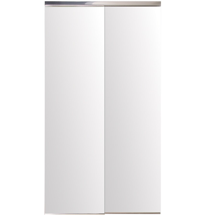 Reliabilt Glass Mirror Flush Aluminum Sliding Closet