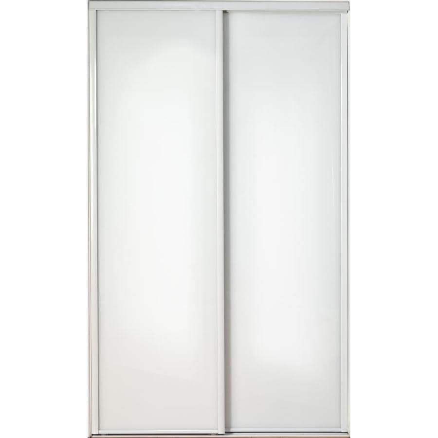 Reliabilt White Mirror Sliding Closet Door Hardware Included Common 60 In X 80 Actual 78