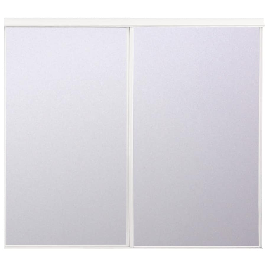 ReliaBilt Flush Mirror Sliding Closet Interior Door (Common: 60-in x 80-in; Actual: 60-in x 78-in)