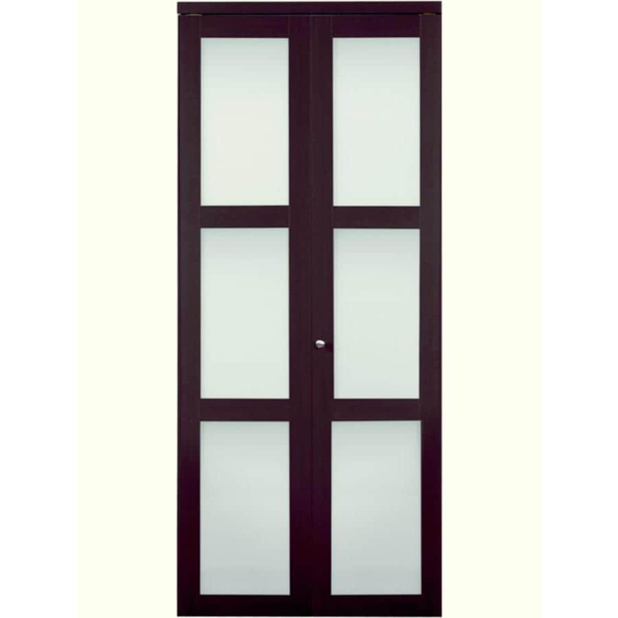 ReliaBilt 3-Lite Frosted Glass Bi-Fold Closet Interior Door (Common: 24-in x 80-in; Actual: 24-in x 78.68-in)