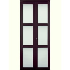 ReliaBilt Frosted Glass MDF Bi Fold Closet Interior Door With Hardware  (Common: 36