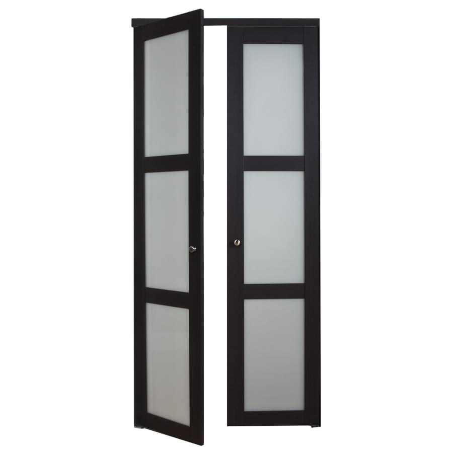 Glass interior doors lowes - Reliabilt 3 Lite Frosted Glass Pivot Interior Door Common 30 In X