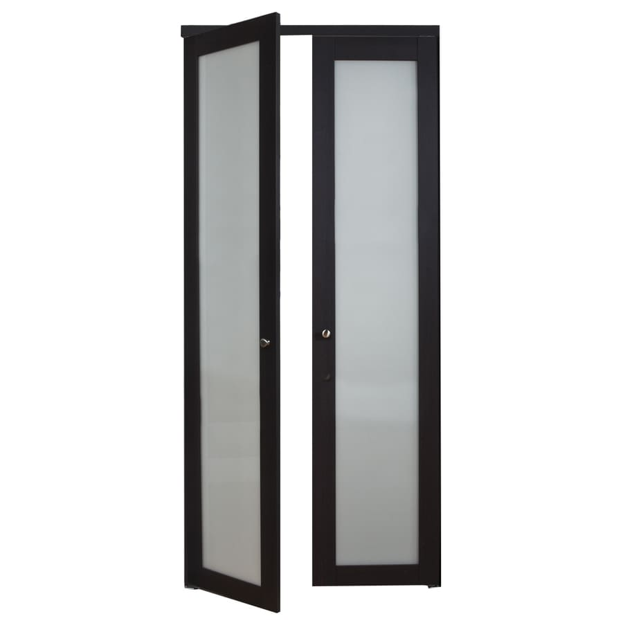 ReliaBilt 1-Lite Frosted Glass Pivot Interior Door (Common: 36-in x 80-in; Actual: 36-in x 77.75-in)