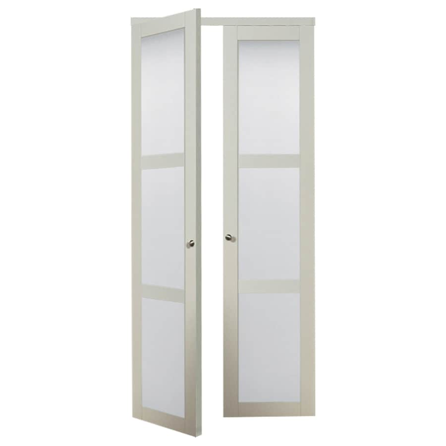 Shop Reliabilt 3 Lite Frosted Glass Pivot Interior Door Common 36 In X 80 In Actual 36 In X