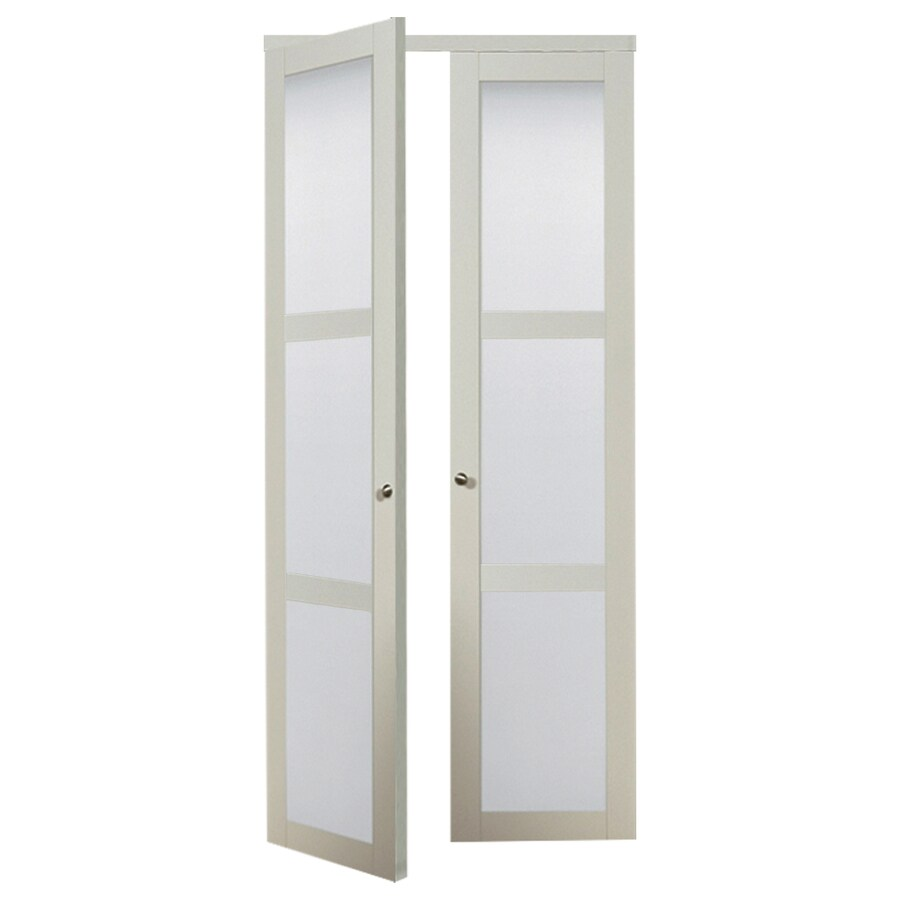 Shop reliabilt 3 lite frosted glass pivot interior door common 36 in x 80 in actual 36 in x Interior doors frosted glass