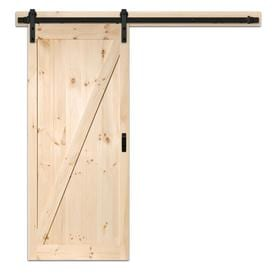 Beau ReliaBilt Reliabilt Pine Unfinished Wood Barn Door Kit Hardware Included  (Common: 36 In