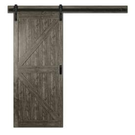 Reliabilt Iron Age Prefinished MDF Barn Door Kit Hardware Included (Common:  36 In