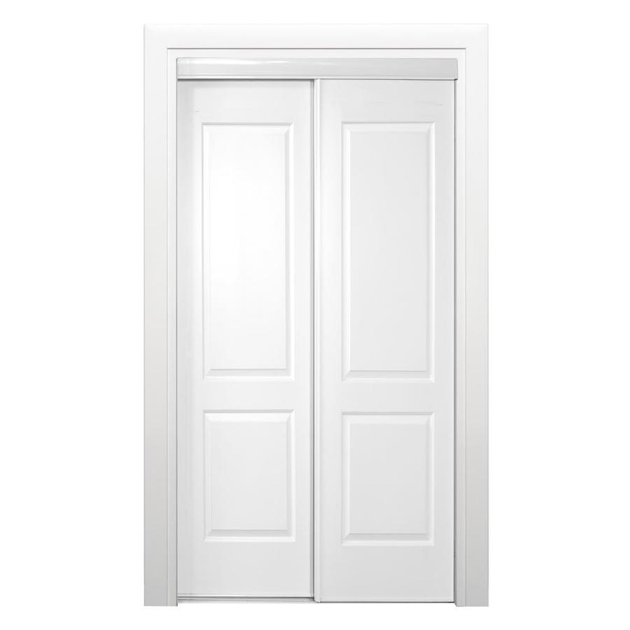 shop reliabilt 108 series white 2 panel square sliding