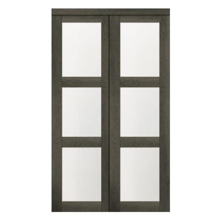 Reliabilt 48 3 Lite Ia 2460 Slider Gray Mdf Sliding Closet Door