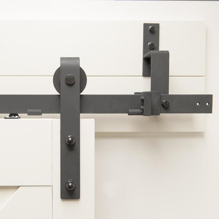 Matte Black Steel Sliding Barn Door Soft Close Attachment