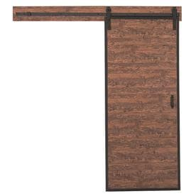 Reliabilt Metal Frame Barn Door Acacia Prefinished Mdf Kit Hardware Included Common