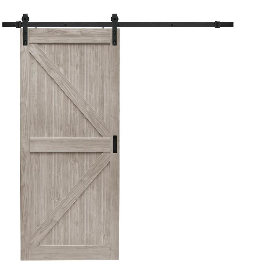 Shop Reliabilt Gray Soft Close Barn Interior Door Common 36 In X