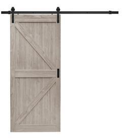Reliabilt Brown Prefinished Mdf Barn Door Kit Hardware Included Common 36 In X