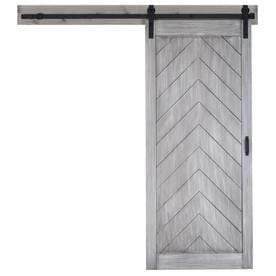 ReliaBilt Herringbone Stained MDF Barn Door Kit Hardware Included (Common:  36 In X