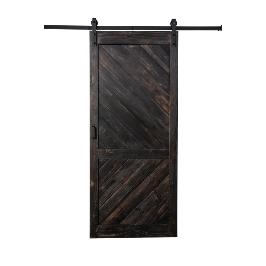 Reliabilt Dark Brown Stained 1 Panel Wood Barn Door