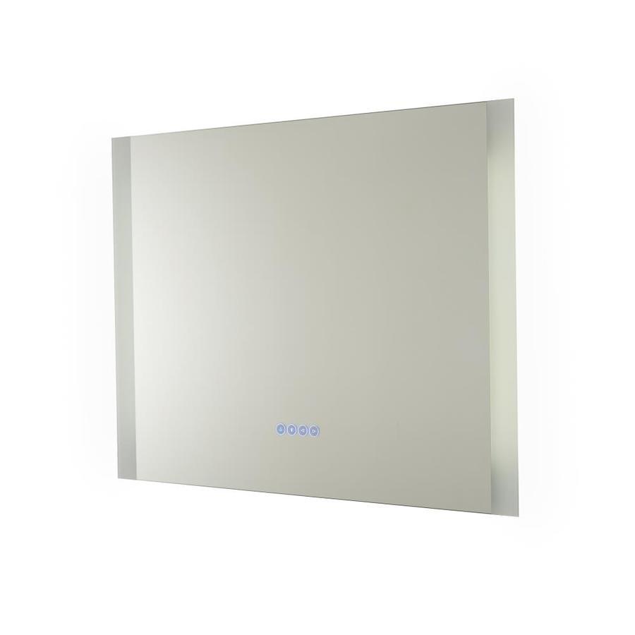 Renin 32 In Glass Rectangular Frameless Lighted Led