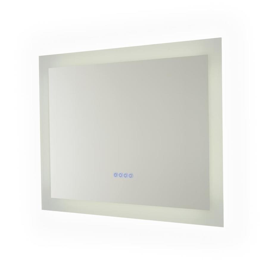 Renin 32 In Glass Rectangular Frameless Lighted Led