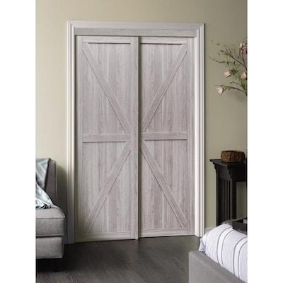 Reliabilt Reliabilt Silver Flush Mdf Sliding Closet Door