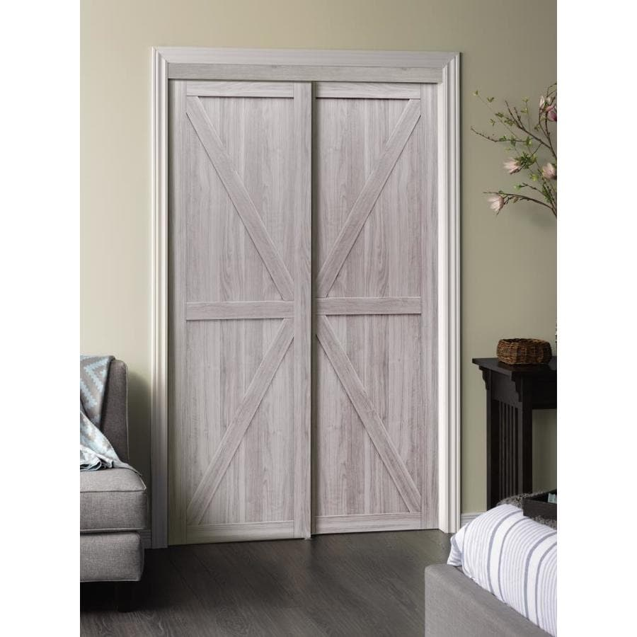 Reliabilt Silver Flush Mdf Sliding Closet Door Hardware Included Common 72 In X 80 Actual