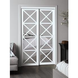 Reliabilt White Flush Mdf Sliding Closet Door Hardware Included Common 48 In