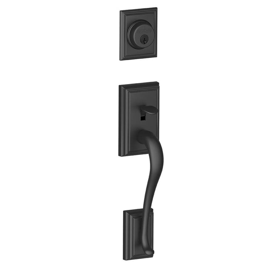 Shop Schlage Addison Adjustable Matte Black Entry Door Exterior Handle At