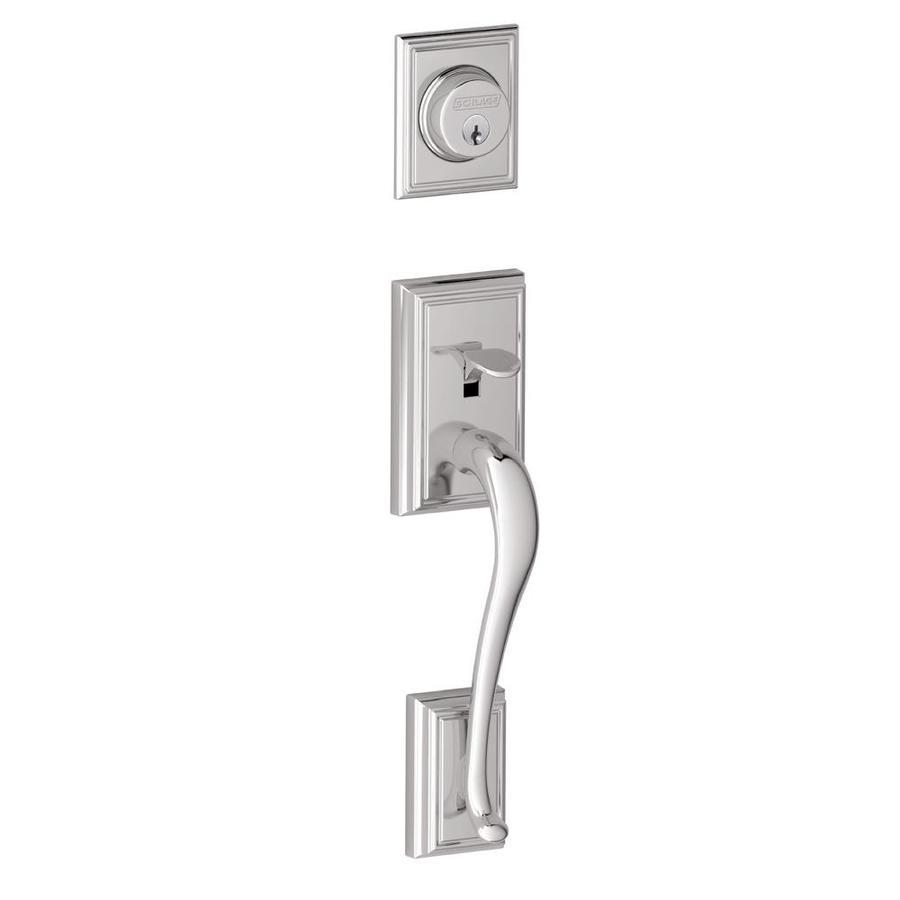 Schlage Addison Adjustable Bright Chrome Entry Door Exterior Handle