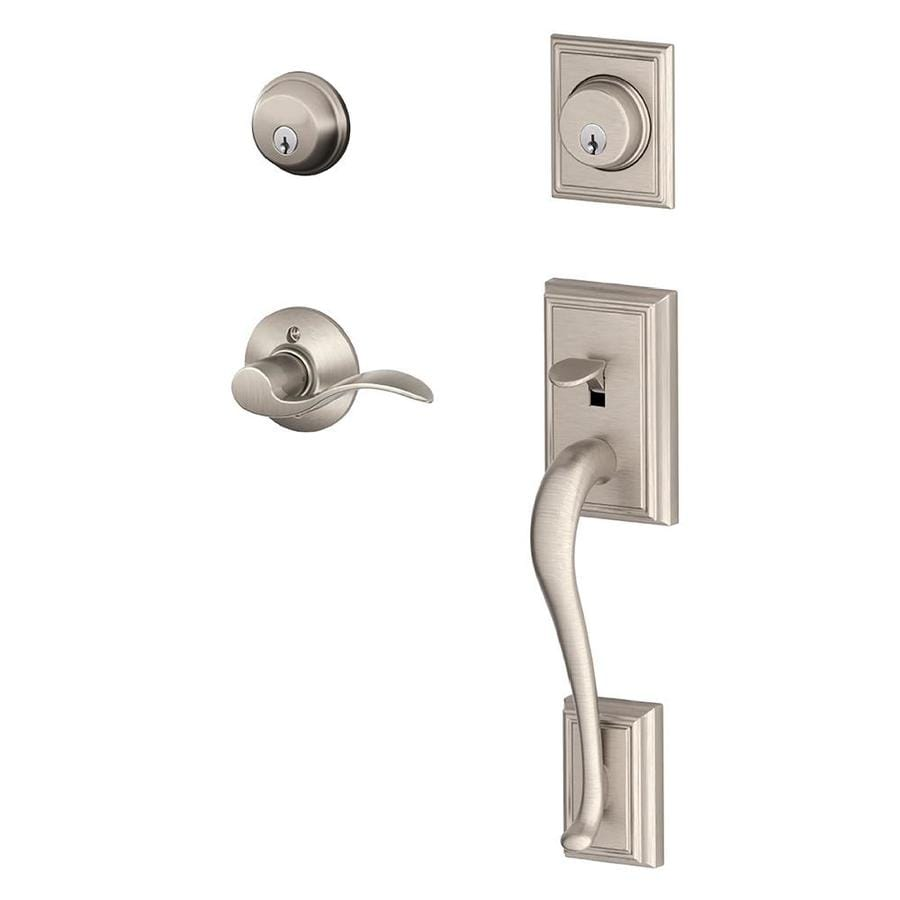 Shop Schlage Addison Accent Lever Traditional Satin Nickel