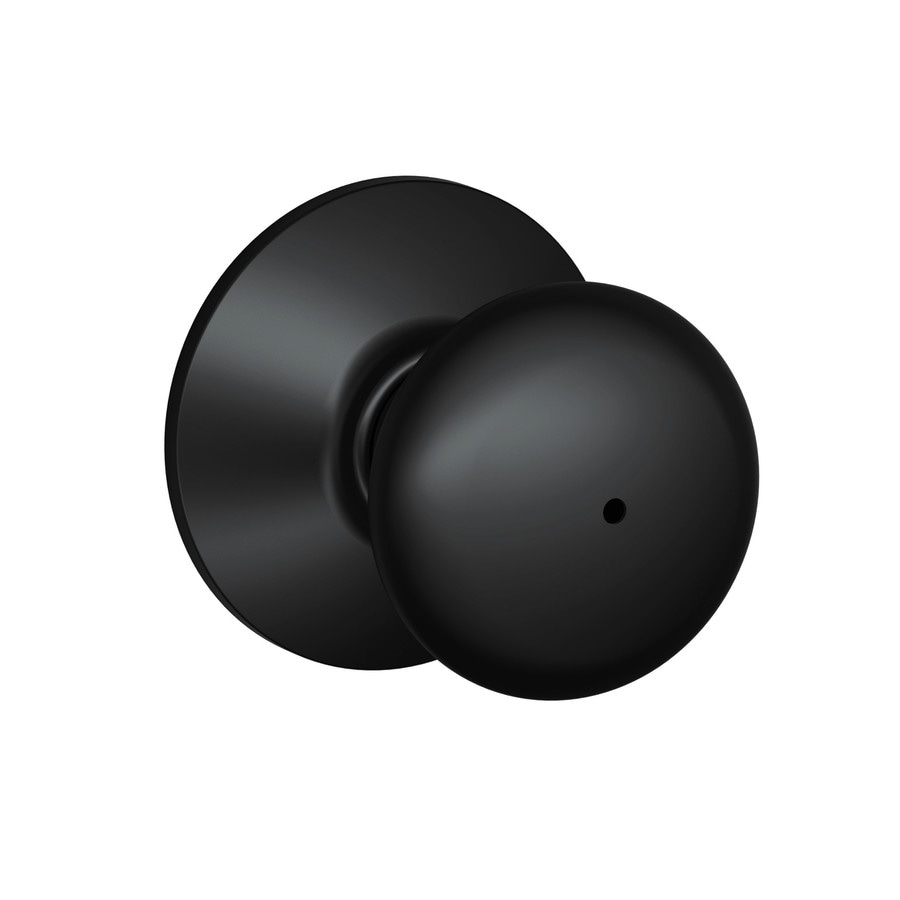 Shop Schlage F Plymouth Matte Black Round Push Button Lock