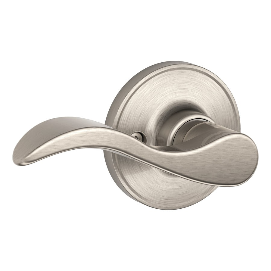 Shop Schlage J Seville Satin Nickel Dummy Door Handle At