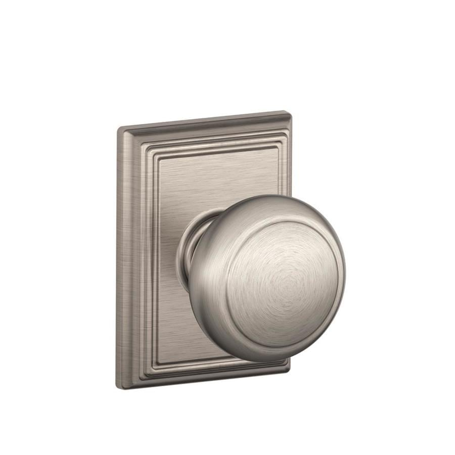 Schlage F Decorative Addison Collections Andover Satin Nickel Round Passage Door Knob