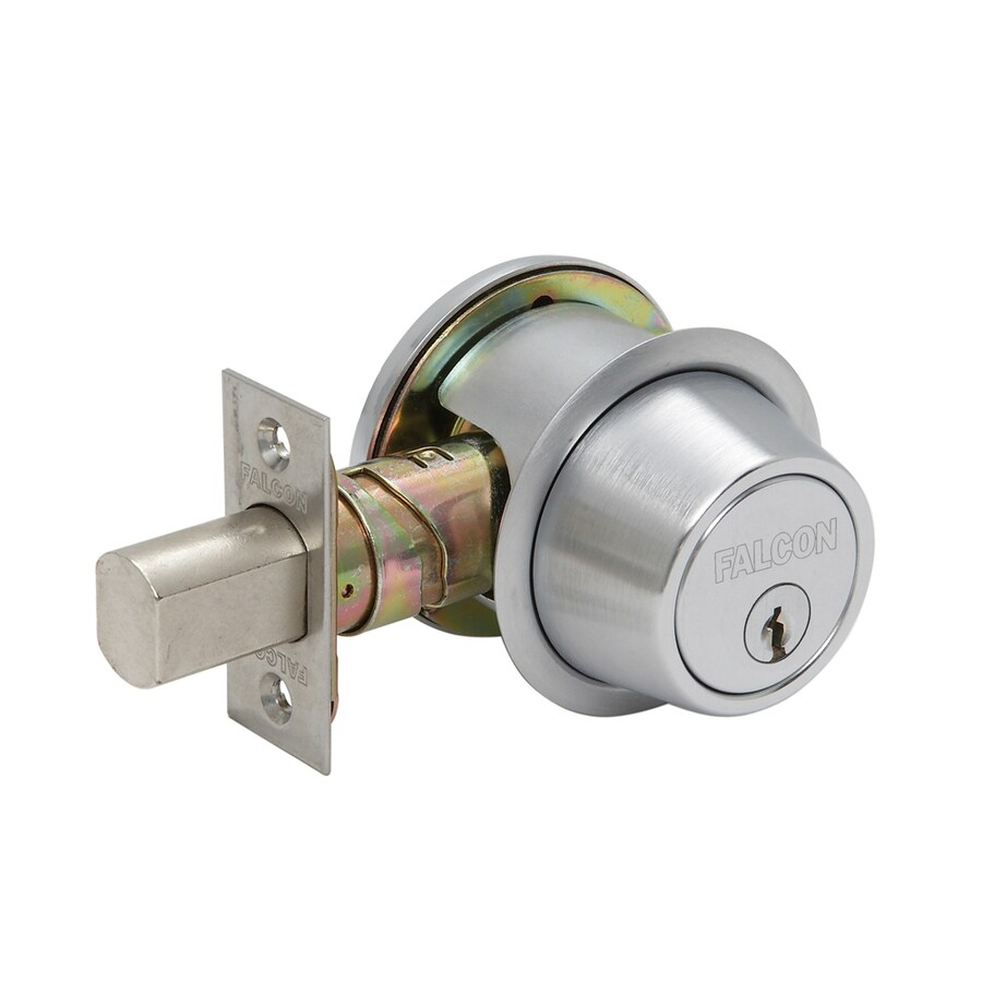Falcon D200 Satin Chrome Double-Cylinder Deadbolt
