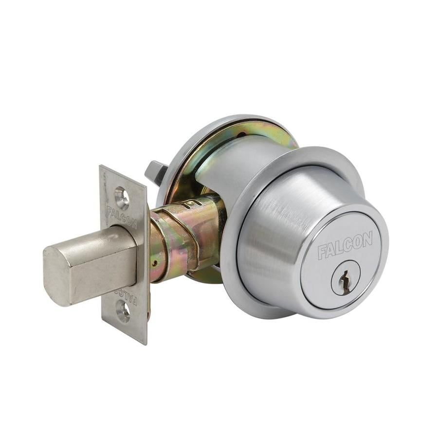 Falcon D200 Satin Chrome Single-Cylinder Deadbolt