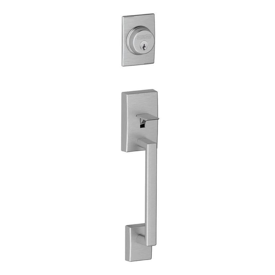 Shop Schlage Century Adjustable Satin Chrome Entry Door Exterior